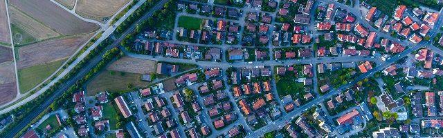 花と緑のある住宅地